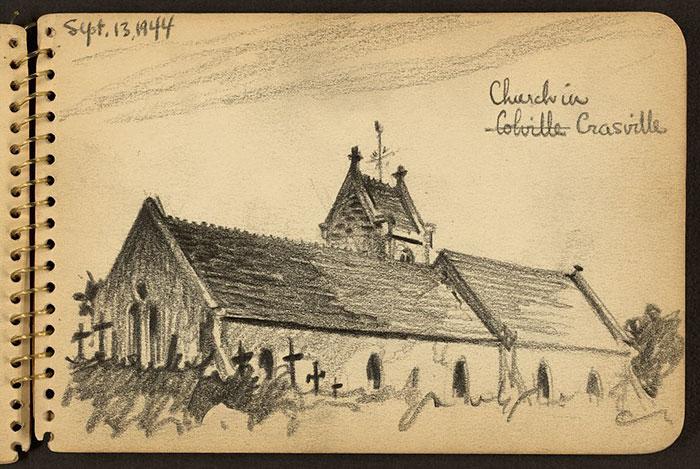 Church In Crasville, Manche, France