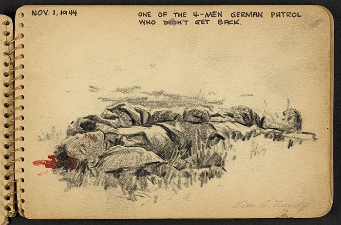 One Of The 4-Men German Patrol Who Didn't Get Back