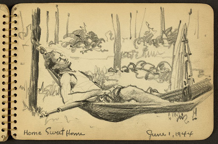 Home Sweet Home. Soldier In Hammock While Stationed At Fort Jackson, South Carolina
