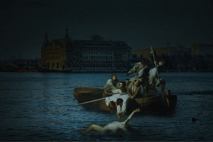 I Make Classical Paintings Travel Through City