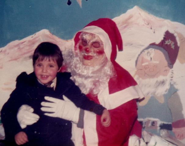 Creepy Masked Santa Cops A Feel