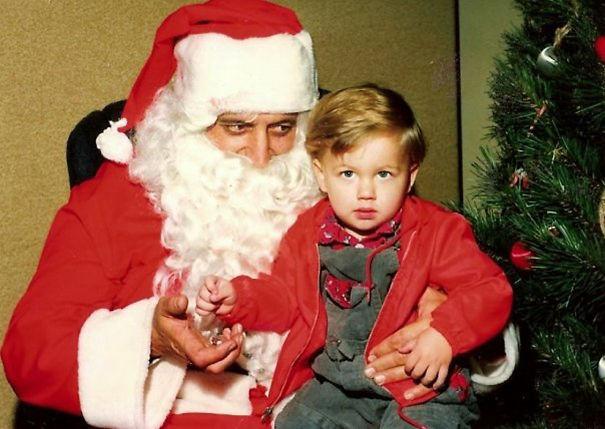 Side-eyed Santa