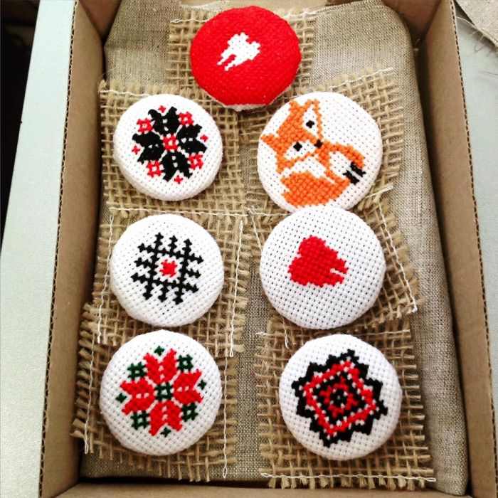 Brooches For 1st Of March (one Of Our First Orders)