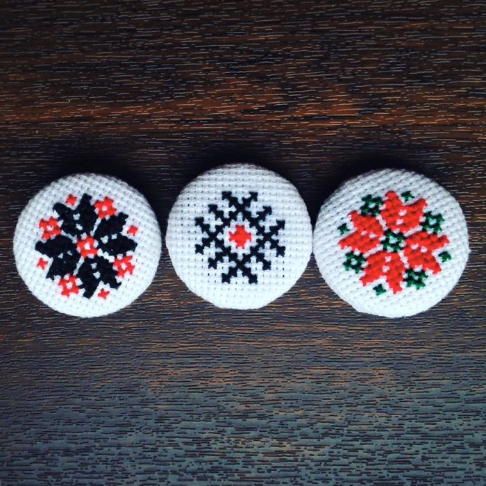 Brooches With Traditional Patterns