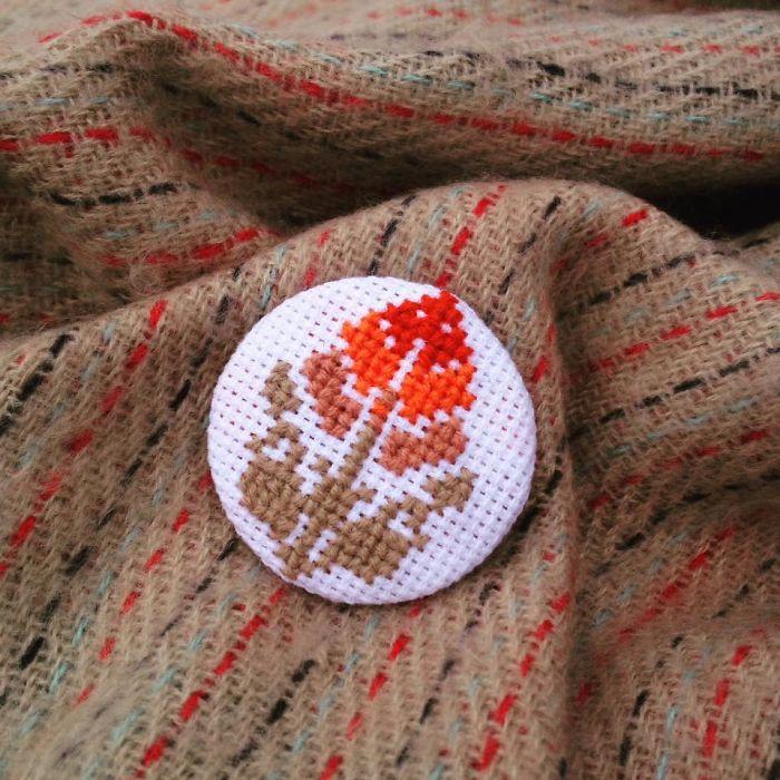 Autumn Flower Brooch
