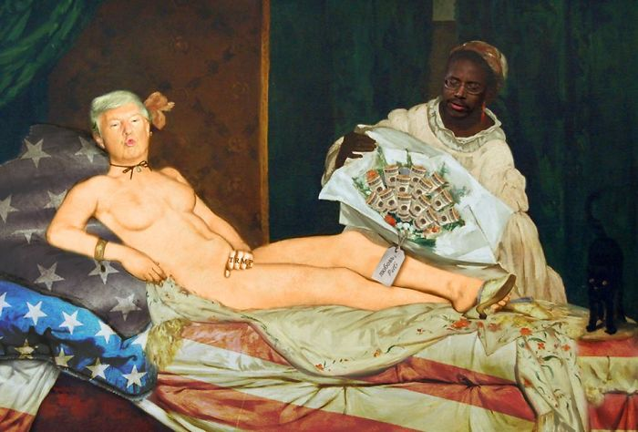 """""""trumpia"""", Update Of """"olympia"""" By Édouard Manet, 1865."""