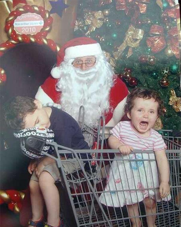 Creepy Santa Shops At Walmart/