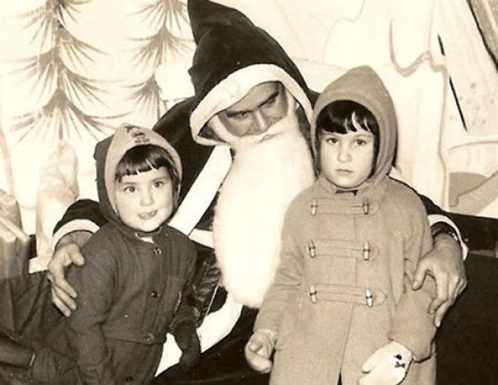 Retro Creepy Santa