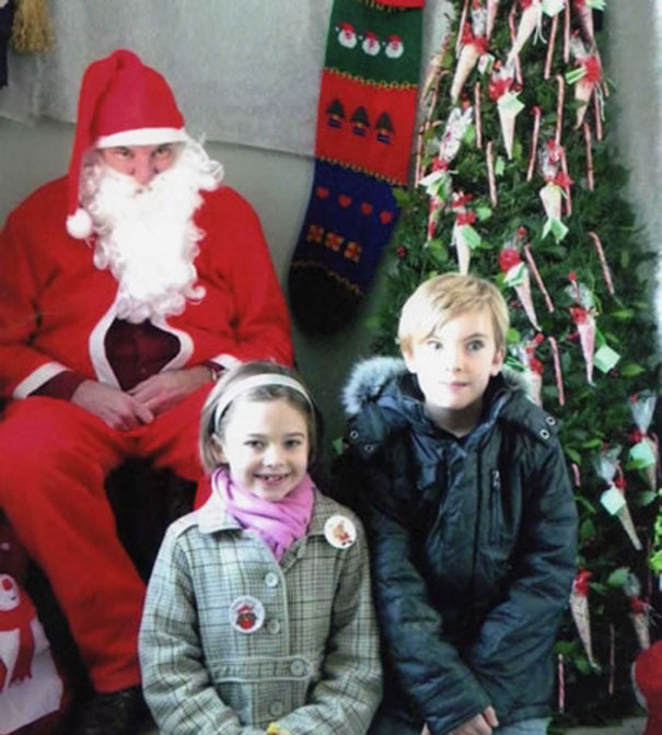 These Kids Have The Right Idea… 3 Giant Steps From Santa
