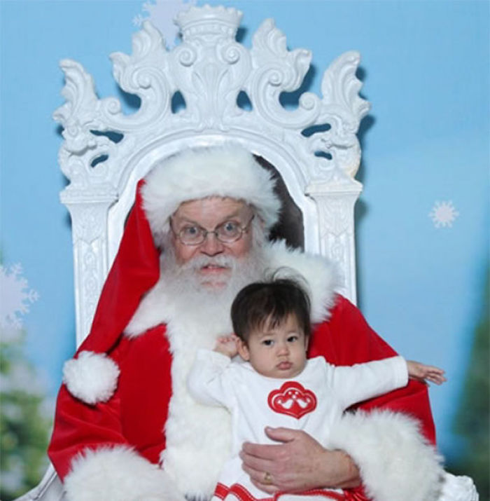 Airport Santa Teaches Kid To Fly
