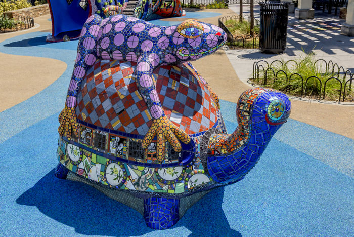 It Took Me 4 Years To Create One-Of-A-Kind Mosaic Play Structure For Underserved Children
