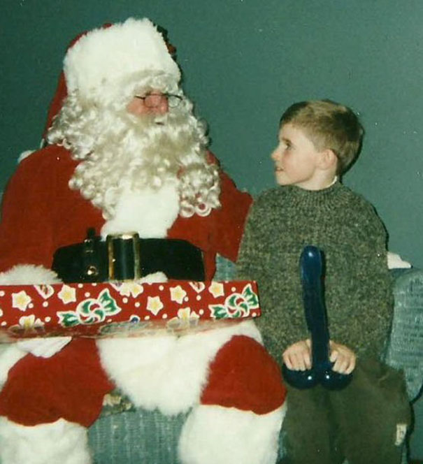 Santa + Balloon Animal = Bad