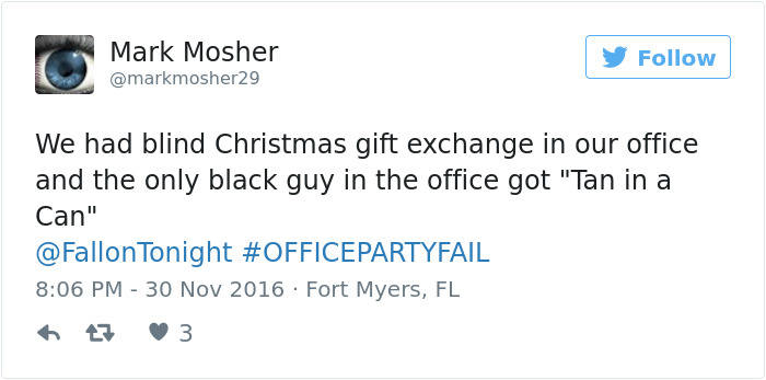 Office Party Fail Tweet