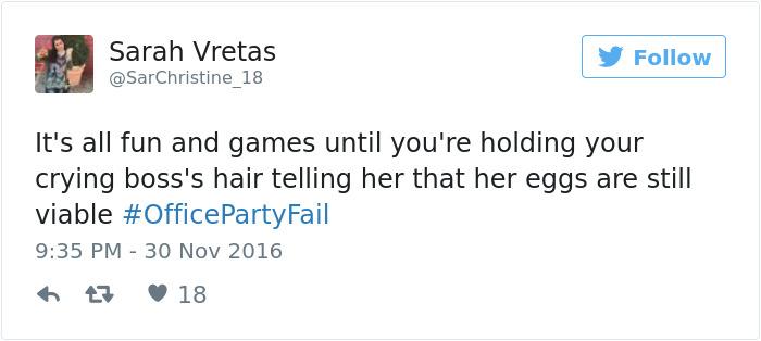 Office Party Fail Tweet