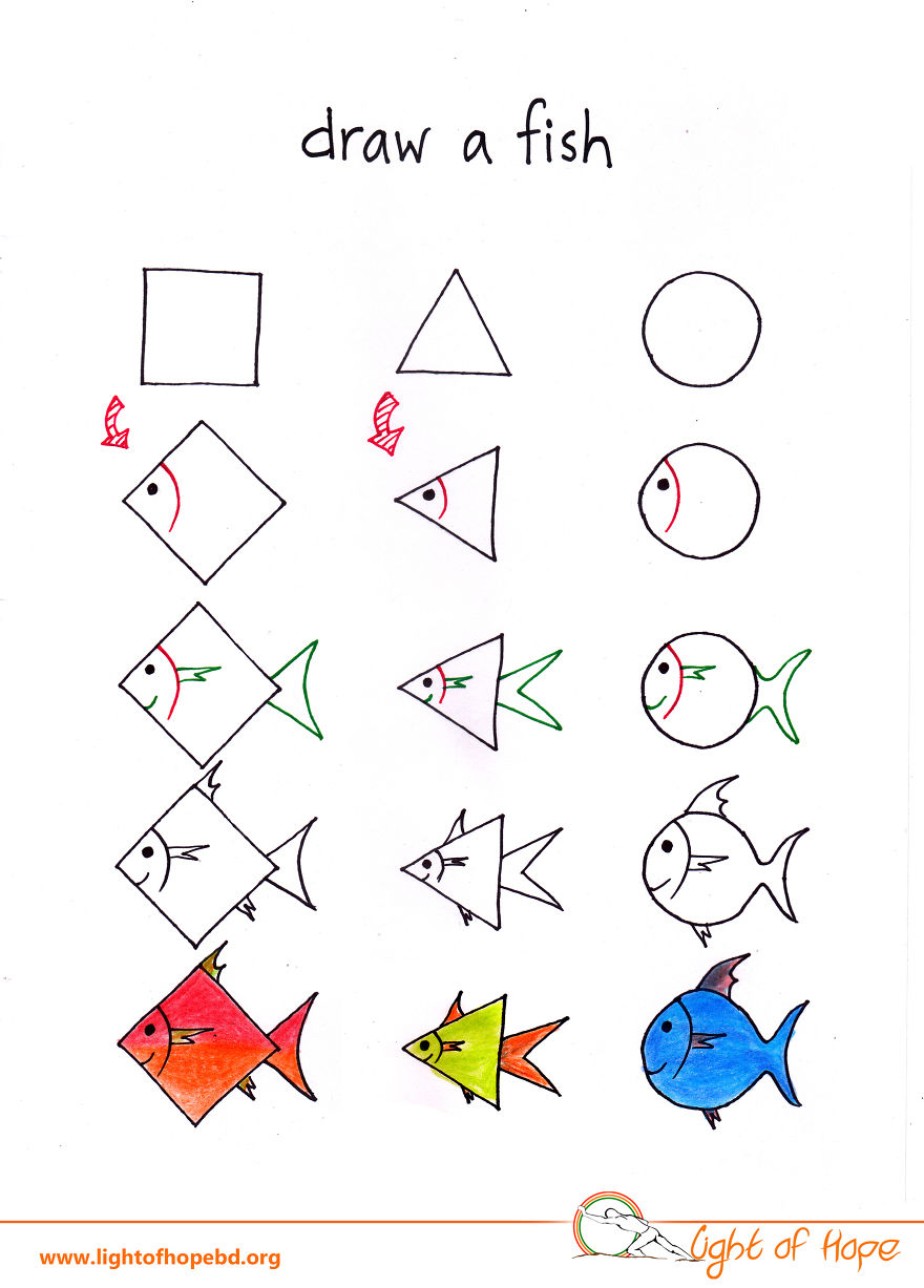 Uncategorized How To Draw Any Animal how to draw any animal from a square triangle and circle 6 fish