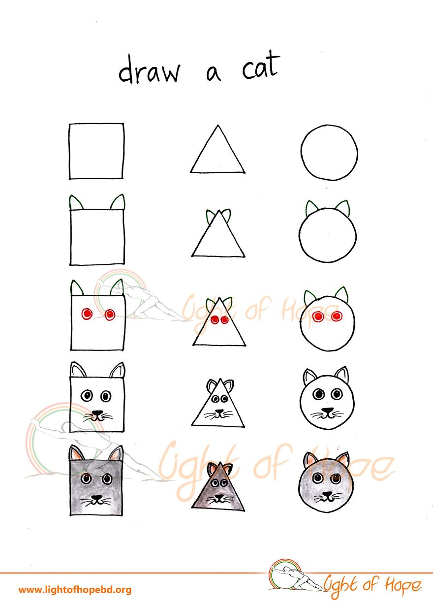 Uncategorized How To Draw Any Animal how to draw any animal from a square triangle and circle 9 cat