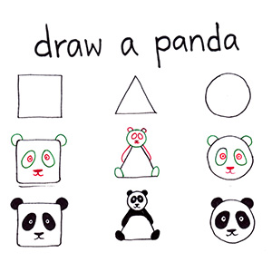 How To Draw Any Animal From A Square, A Triangle And A Circle