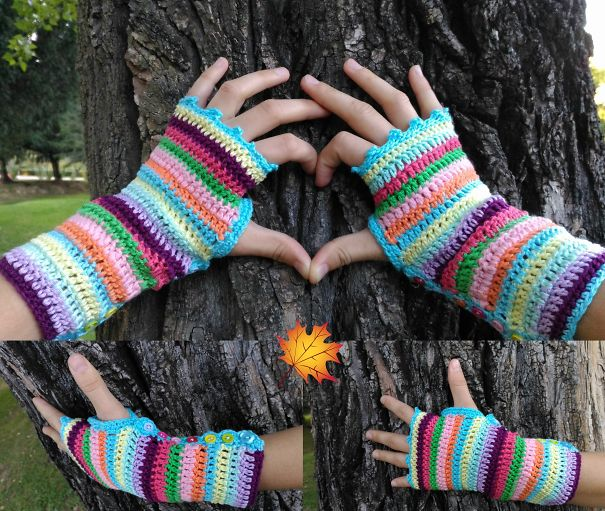Colourful Stripes Hand Warmers
