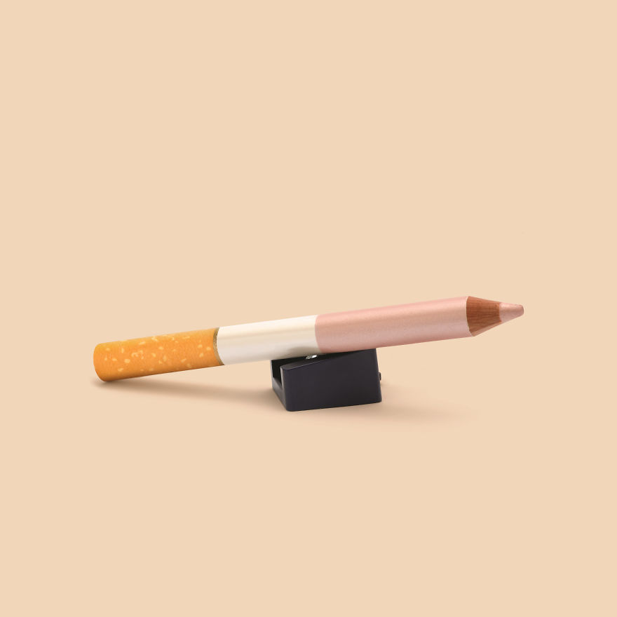 Cigarette + Eye Highlighter