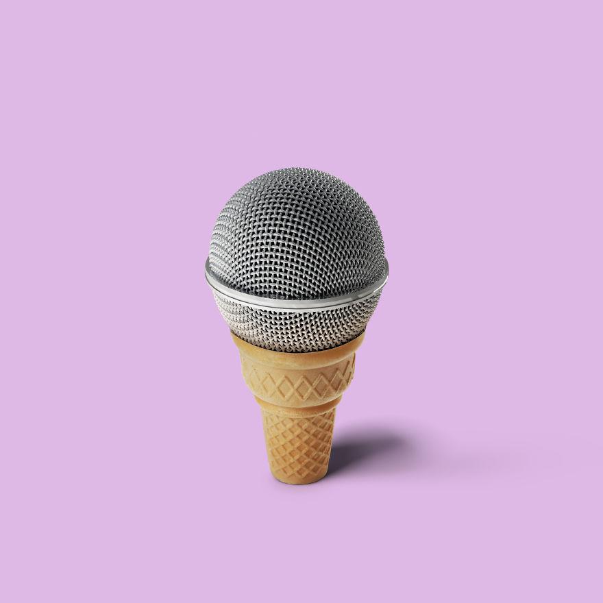 Cone + Microphone