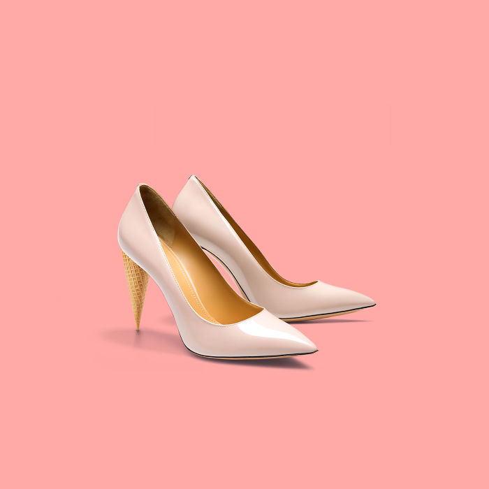Cone + Pointed Toe Pumps