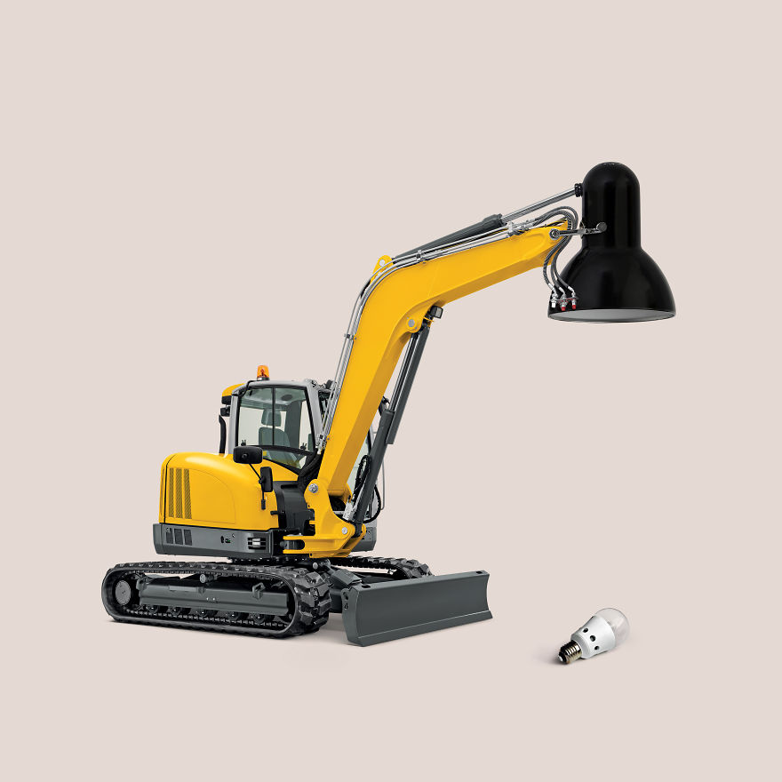 Excavator + Desk Lamp