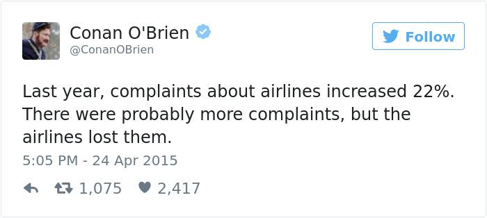 Funny Plane Tweet