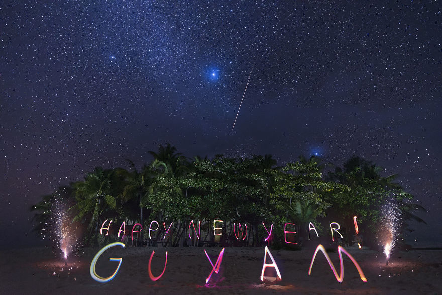 Happy New Year From Guyam Island