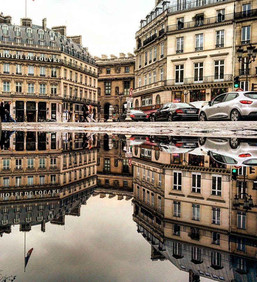 I Travel The World To Photograph The Parallel Worlds Of Puddles With My Smartphone