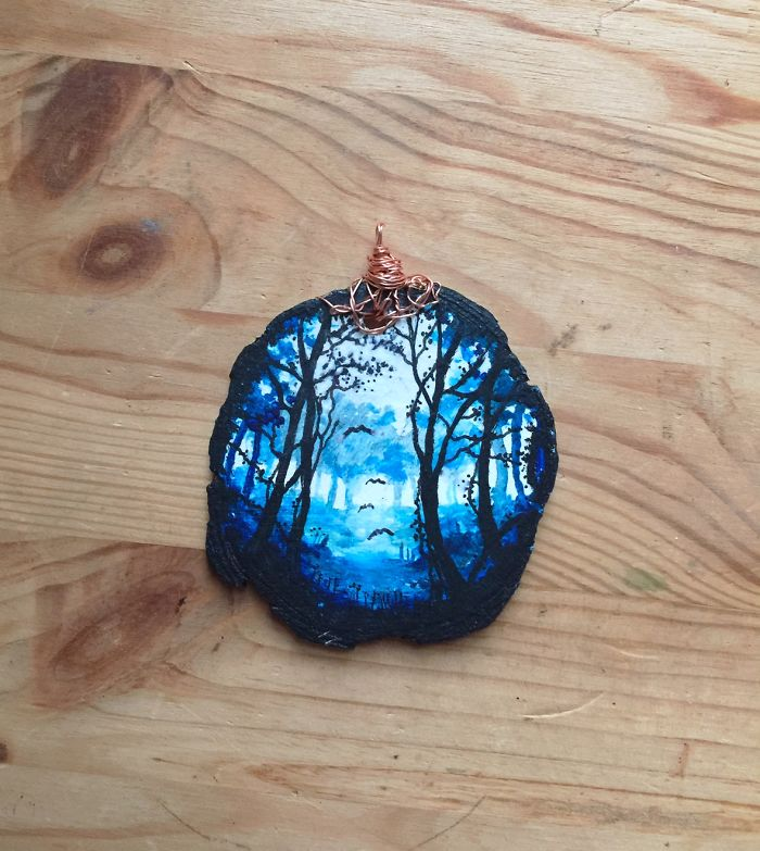 Wear The Woods – I Love To Create Hand Painted Wearable Forest Art Necklaces..