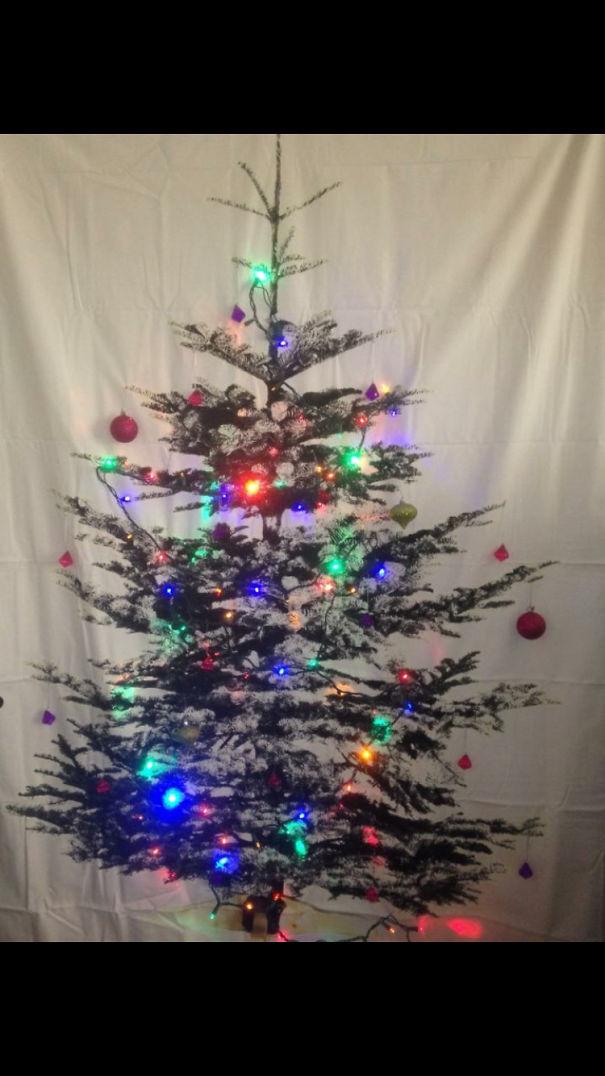ikea shower curtain christmas tree