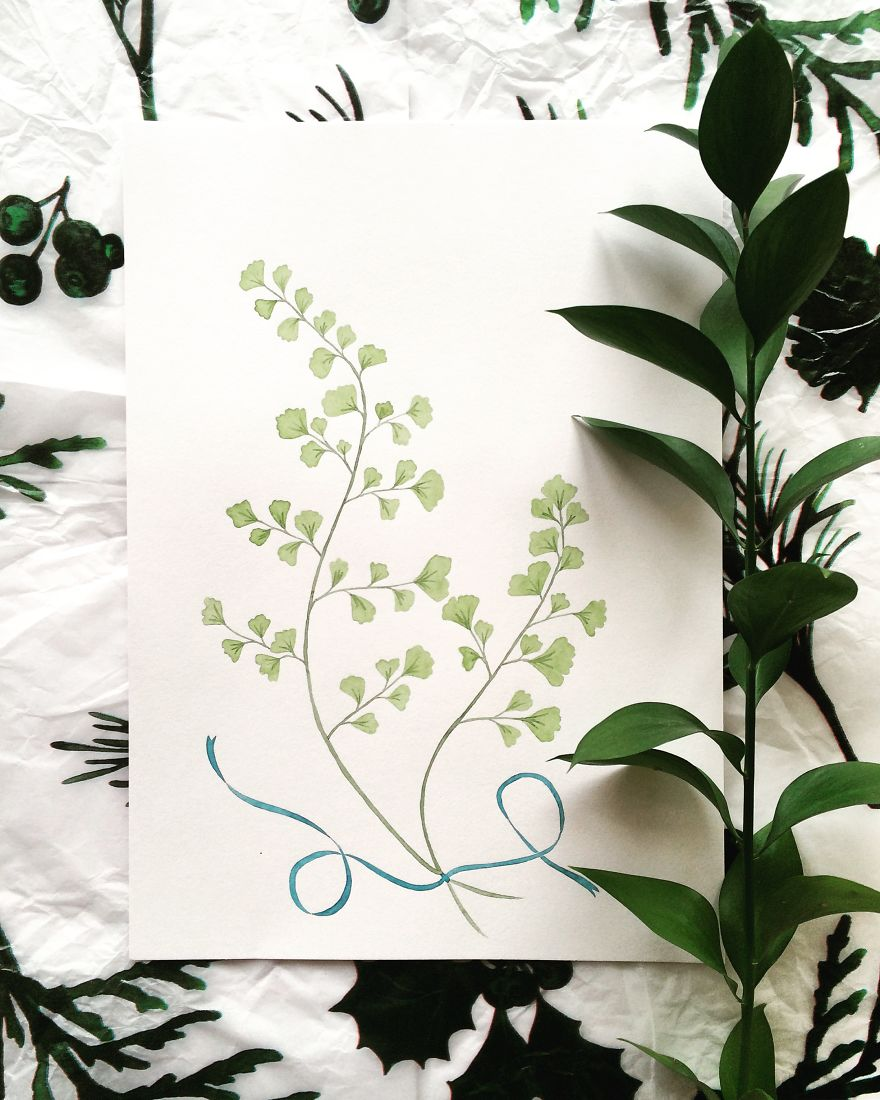 Maidenhair Fern Artprint