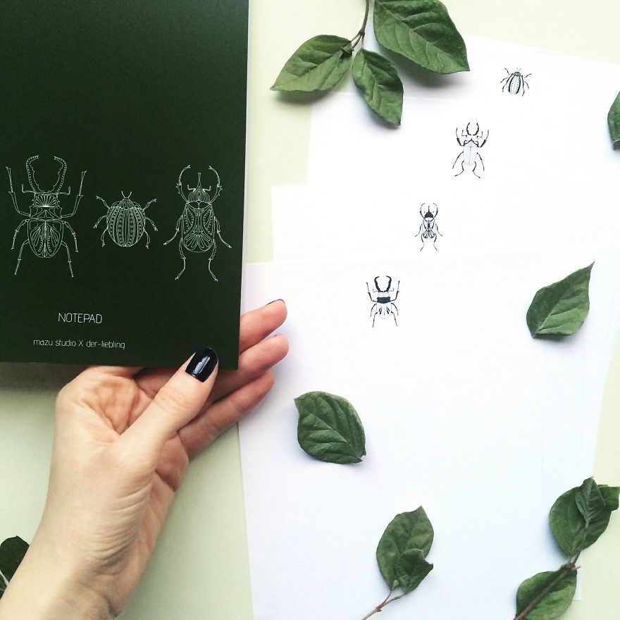 Beetle Notepad With Inner Pages