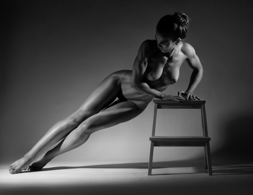 and photography Black nude white art fine