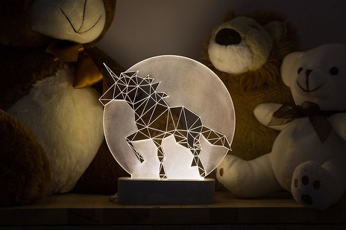 Unicorn Lamp, Full Moon Collection