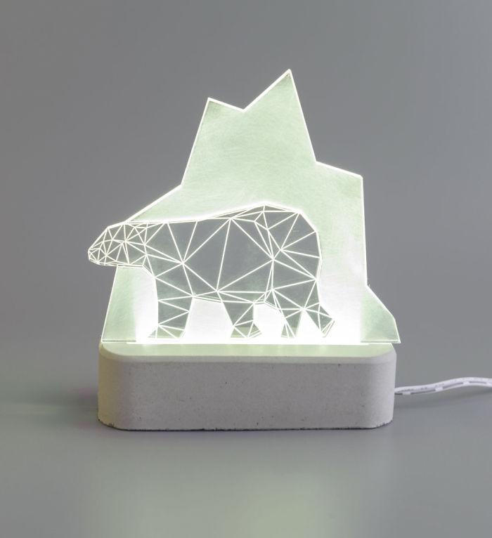 Polar Bear Lamp, Arctic Collection
