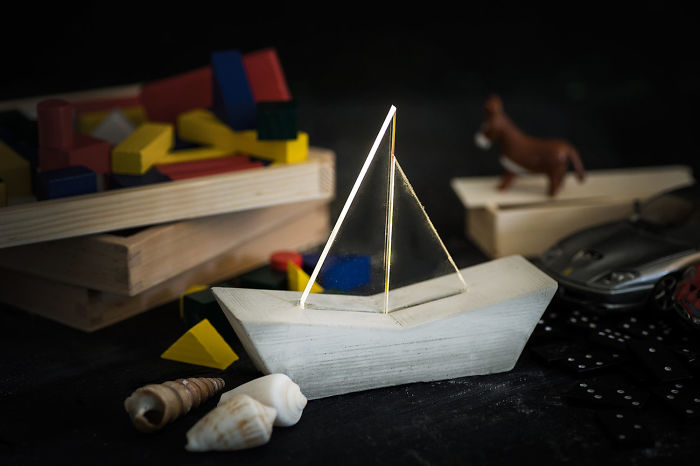Nautical Sailboat Concrete Lamp