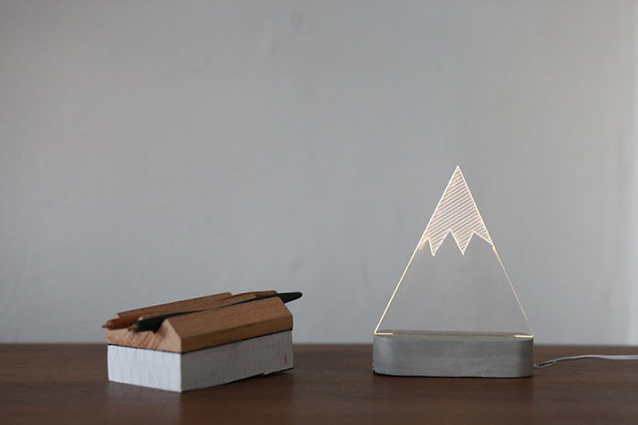 Snowy Mountain Lamp