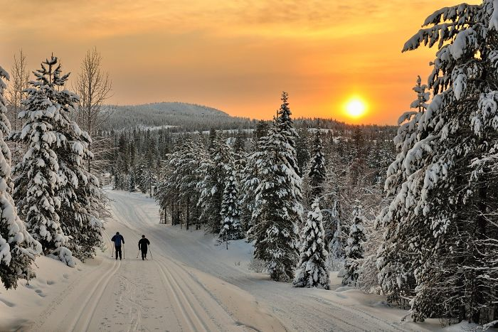In Finland I Discovered A Colorful, Ambient Scenery For Cross-Country Skiing