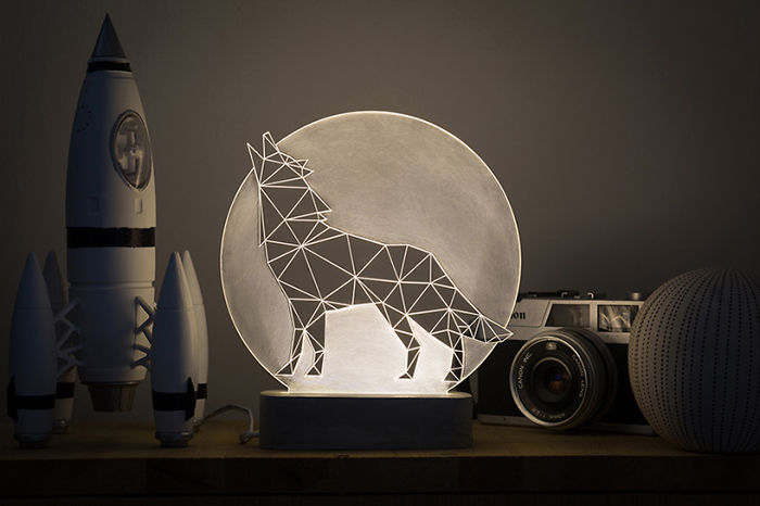 Wolf Lamp, Full Moon Collection