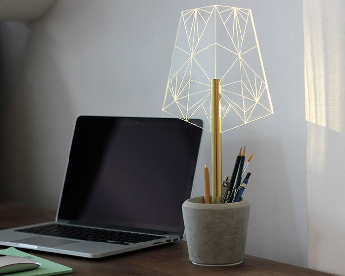 From The Wired Collection, Lamp And Pen Holder
