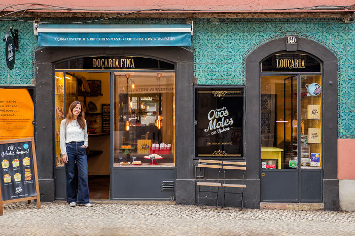 Filipa Cordeiro, Partner Of The Ovos Moles Em Lisboa Project, Poses For The Picture