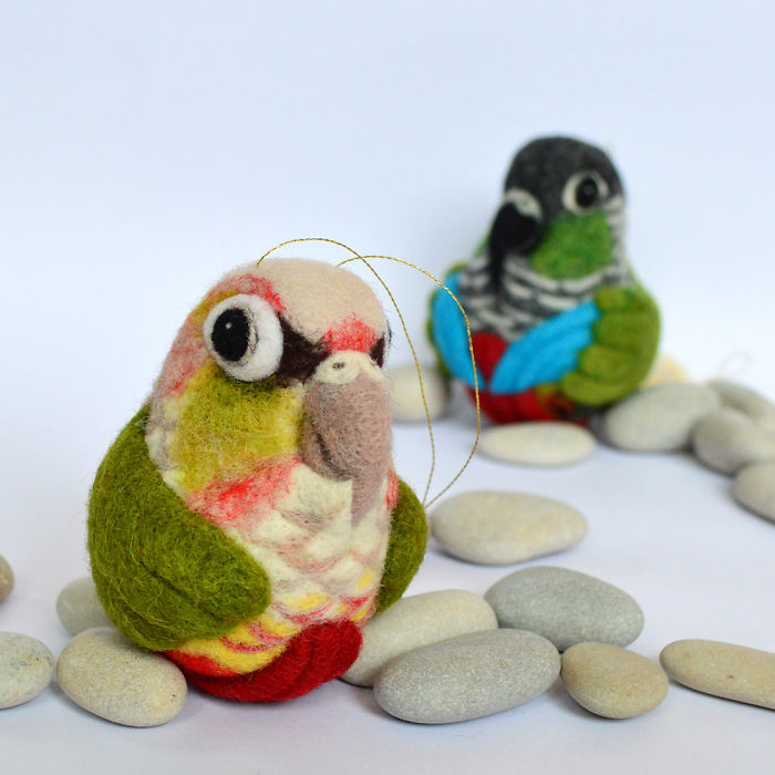 Needle Felted Bird Ornament