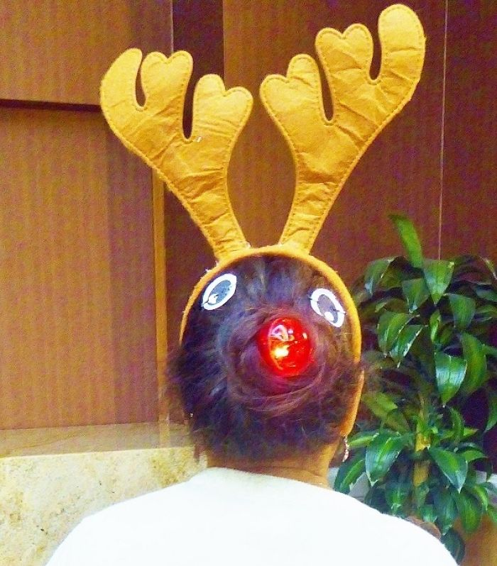 Rudolph And Blinking Red Nose