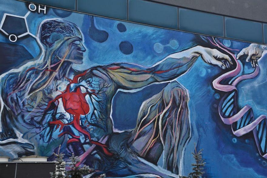Polish Michelangelo - New Mural In Łódź - Adam's Heart By Piotr Chrzanowski