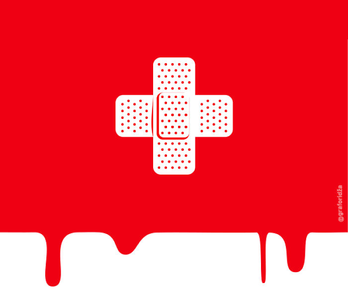 Posters Inspired By Swiss Flag