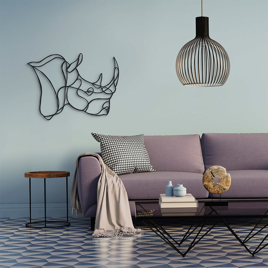 bab563bed These Animal Signs Start Life As Simple One-Line Drawings | Bored Panda