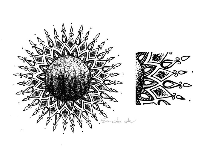 Intricate Freehand Drawn Mandalas That I Made Of Lines And Tiny Dots Inspired By Nature