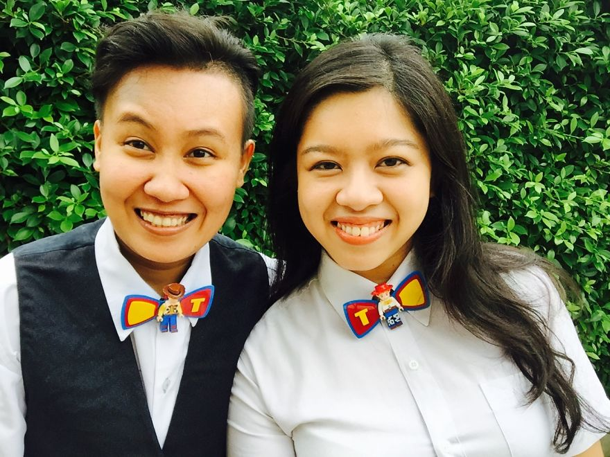 We Made These Bow Ties Out Of Toys