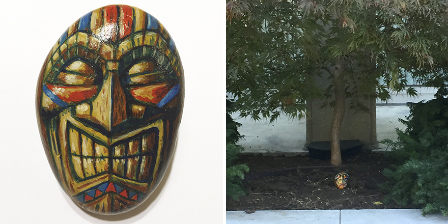 """Tiki"" Rock Left At Moore College Of Art In Philadelphia"